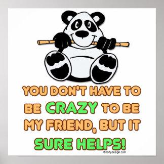 Crazy Friends Print
