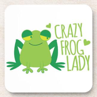 Crazy Frog Lady Beverage Coaster