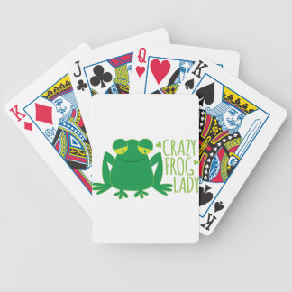 crazy frog lady bicycle playing cards