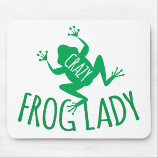 Crazy Frog Lady Mouse Pad