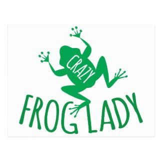 Crazy Frog Lady Postcard