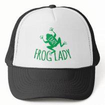 Crazy Frog Lady Trucker Hat