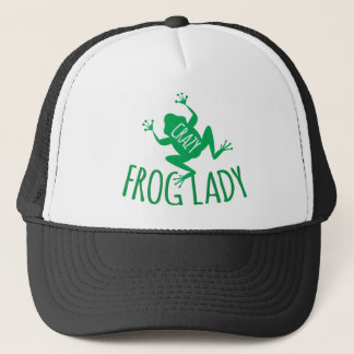 Crazy Frog Lady Trucker Hat