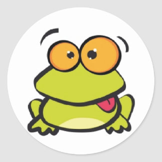 CRAZY FROG PRINCE CLASSIC ROUND STICKER