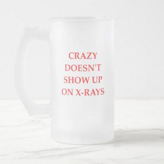 CRAZY FROSTED GLASS BEER MUG