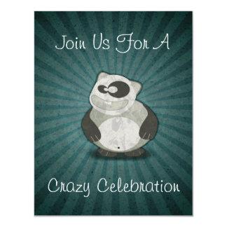 Crazy Fun Panda Birthday Celebration Invitations