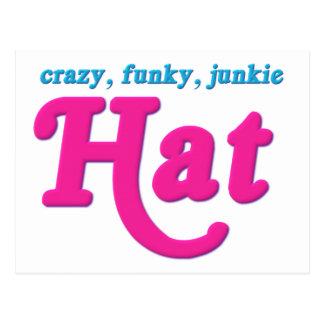 Crazy, Funky, Junkie Hat Postcard