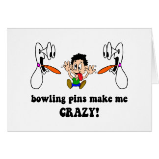 Crazy funny bowling card