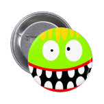 crazy funny monster 2 inch round button