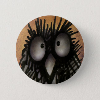 Crazy Funny Night Owl Art for Owl Lovers Pinback Button