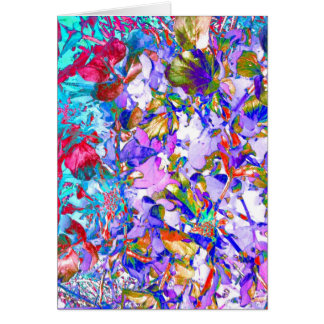 Crazy Garden Flowers Art Photo Blank Inside Card