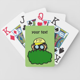 Crazy Geocacher in the Bushes Geocaching Bicycle Playing Cards