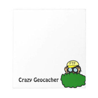 Crazy Geocacher in the Bushes Geocaching Memo Notepads