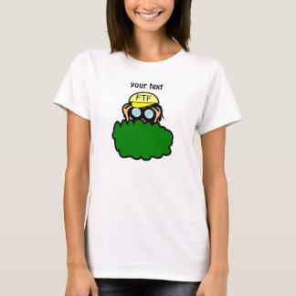 Crazy Geocacher in the Bushes Geocaching T-Shirt