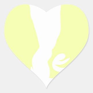 Crazy Girl Heart Sticker