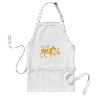 Crazy Goat Lady Adult Apron