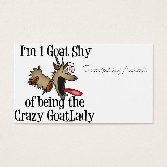 Crazy Goat Lady GetYerGoat Business Card
