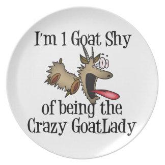 Crazy Goat Lady GetYerGoat Dinner Plate