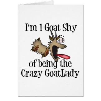 Crazy Goat Lady GetYerGoat Greeting Card