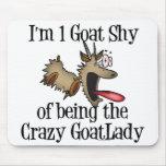 Crazy Goat Lady GetYerGoat Mouse Pad