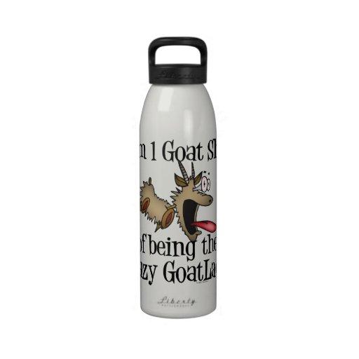 Crazy Goat Lady GetYerGoat Reusable Water Bottles