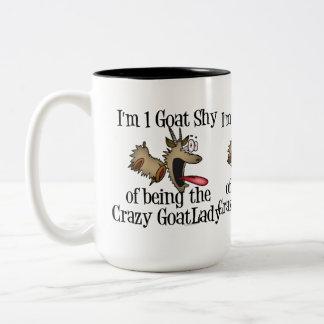 Crazy Goat Lady GetYerGoat Two-Tone Coffee Mug
