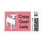 Crazy Goat Lady postage