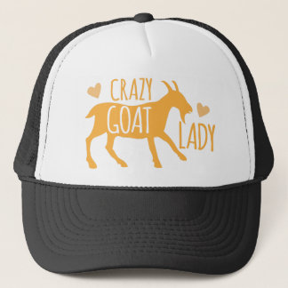 Crazy Goat Lady Trucker Hat