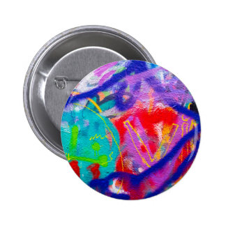 Crazy Graffiti Pinback Button