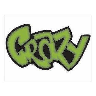 Crazy - Graffiti Postcard