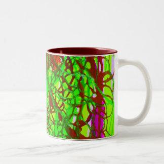 crazy green mug