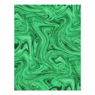 crazy_green_swirlz plantilla de membrete