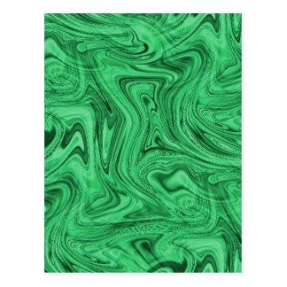 crazy_green_swirlz postcard