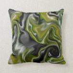 Crazy Green Throw Pillow