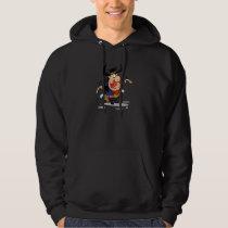 crazy gunslinger outlaw cowboy cartoon hoodie