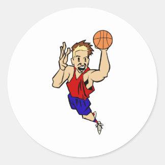 crazy hair basketball sticker