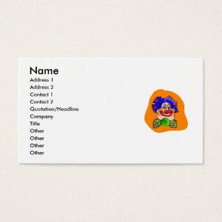 Crazy Hair Clown Business Card