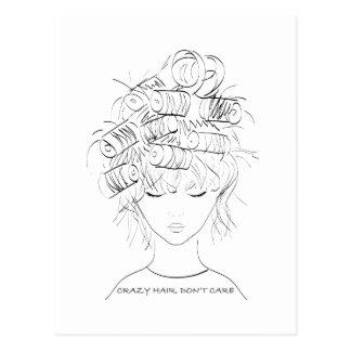 Crazy Hair, Don't Care Postcard
