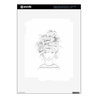 Crazy Hair, Don't Care Skins For iPad 3