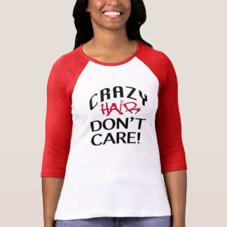 Crazy Hair Ladies 3/4 Sleeve Raglan (Fitted) T-Shirt