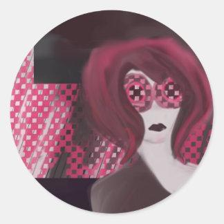 Crazy Hair Classic Round Sticker