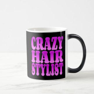 Crazy Hair Stylist 11 Oz Magic Heat Color-Changing Coffee Mug
