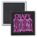 Crazy Hairdresser 2 Inch Square Magnet
