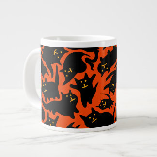 Crazy Halloween Cats Extra Large Mug
