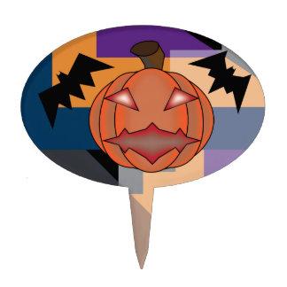 Crazy Halloween Designs Cake Topper
