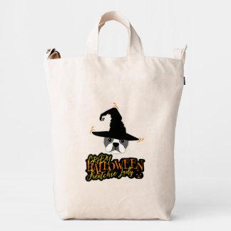 Crazy Halloween Frenchie Lady French Bulldog Mom Duck Bag