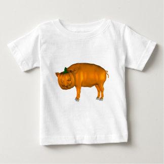 Crazy Halloween Pig Baby T-Shirt