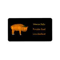 Crazy Halloween Pig Label
