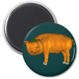 Crazy Halloween Pig Magnet