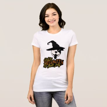 Halloween Themed Crazy Halloween Pit Bull Lady Pit Bull Mom T-Shirt